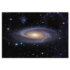 Messier 81 or Bodes Galaxy is a spiral galaxy loca