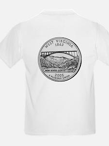 2005 West Virginia State Quar Kids T-Shirt