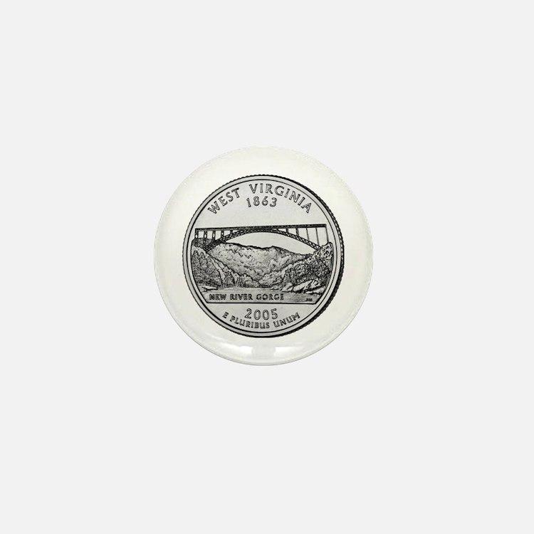 2005 West Virginia State Quar Mini Button