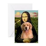 Mona Lisa/Golden #8 Greeting Card