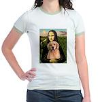 Mona Lisa/Golden #8 Jr. Ringer T-Shirt