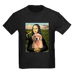 Mona Lisa/Golden #8 Kids Dark T-Shirt