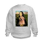 Mona Lisa/Golden #8 Kids Sweatshirt