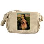 Mona Lisa/Golden #8 Messenger Bag