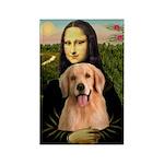 Mona Lisa/Golden #8 Rectangle Magnet