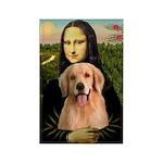 Mona Lisa/Golden #8 Rectangle Magnet (10 pack)