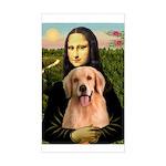 Mona Lisa/Golden #8 Sticker (Rectangle)