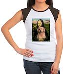 Mona Lisa/Golden #8 Women's Cap Sleeve T-Shirt