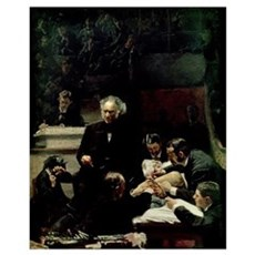 The Gross Clinic, 1875 (oil on canvas) Poster