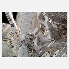 Astronaut participates in a session of extravehicu