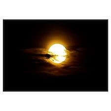 Full moon in the night sky Sobreda Portugal