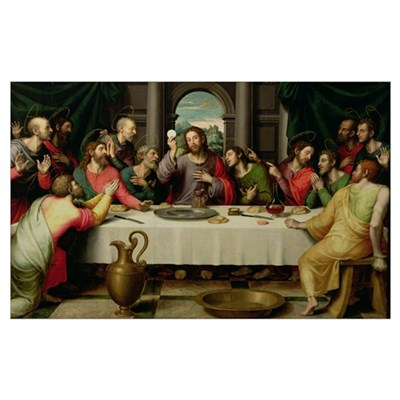 The Last Supper (oil on panel) Poster