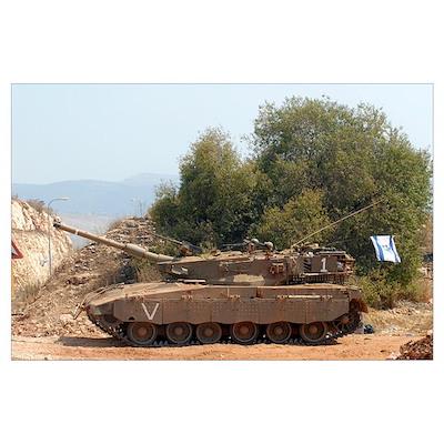 The Merkava Mark IV main battle tank of the Israel Poster