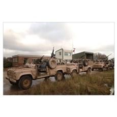A Pink Panther Land Rover of the British Army Poster