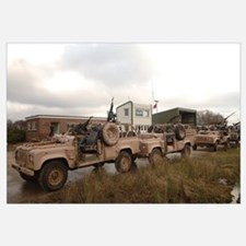 A Pink Panther Land Rover of the British Army