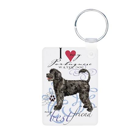 Portuguese Water Dog Aluminum Photo Keychain