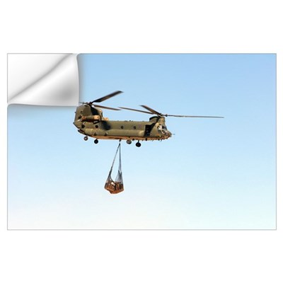 A CH 47 Chinook of the Royal Air Force transports Wall Decal