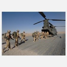 British paratroopers board a CH 47 Chinook helicop