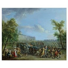 The Pillage of the Invalides, 14 July 1789 (oil on Poster