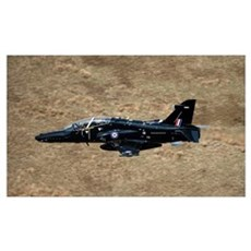 A Hawk T2 jet trainer aircraft of the Royal Air Fo Poster