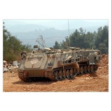 A M113 armored personnel carrier of the Israel Def Canvas Art
