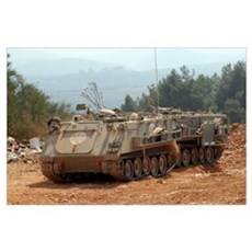 A M113 armored personnel carrier of the Israel Def Poster