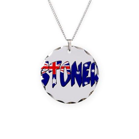 stonerflag Necklace Circle Charm