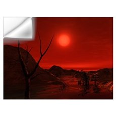 Extrasolar planet Gliese 581 g orbiting a red dwar Wall Decal