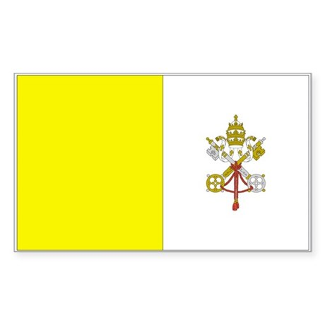 Vatican City Rectangle Sticker