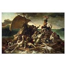 The Raft of the Medusa, 1819 (oil on canvas) Poster