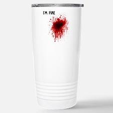 I'm Fine Stainless Steel Travel Mug