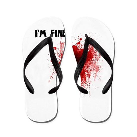 I'm Fine Flip Flops