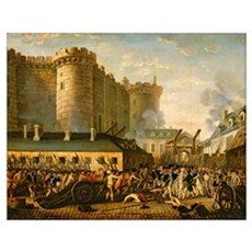 The Taking of the Bastille, 14 July 1789 (oil on c Poster