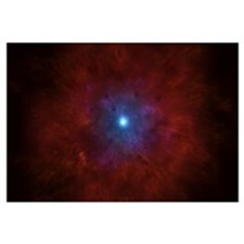 Illustration of a massive star going supernova