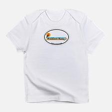 """Wellfleet MA """"Oval"""" Design. Infant T-Shirt"""