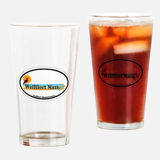 """Wellfleet MA """"Oval"""" Design. Drinking Glass"""