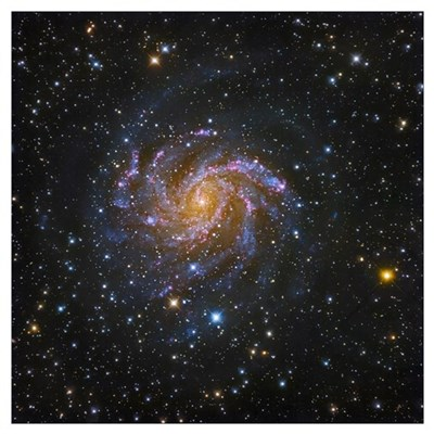 NGC 6946, also known as the Fireworks Galaxy Poster