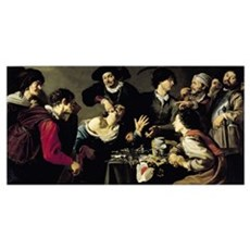 The Tooth Extractor, 1635 (oil on canvas) Framed Print