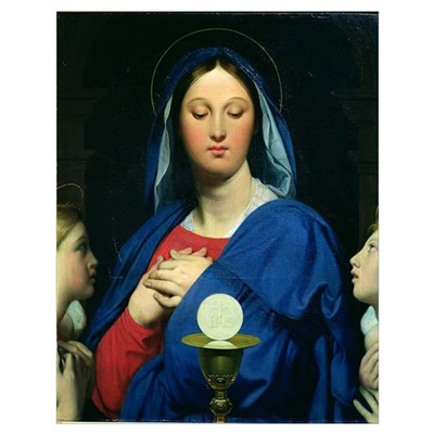 The Virgin of the Host, 1866 (oil on canvas) Poster