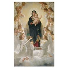 The Virgin with Angels, 1900 (oil on canvas) Framed Print