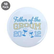 """Father Groom Champagne 2012 3.5"""" Button (10 pack)"""