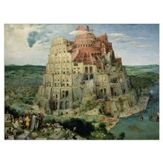 Tower of Babel, 1563 (oil on panel) (for details s Poster