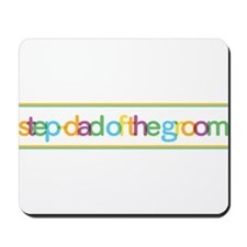 Funky Type Step Father Groom Mousepad