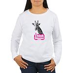 Giraffe - Think bigger Women's Long Sleeve T-Shirt