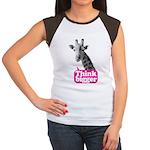 Giraffe - Think bigger Women's Cap Sleeve T-Shirt