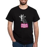 Giraffe - Think bigger Dark T-Shirt