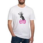 Giraffe - Think bigger Fitted T-Shirt