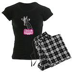 Giraffe - Think bigger Women's Dark Pajamas