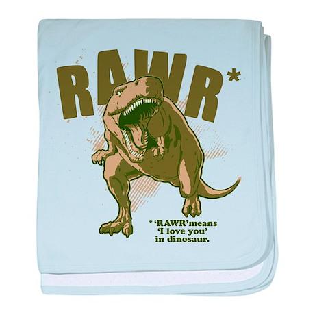 RAWR Dinosaur baby blanket