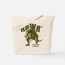 RAWR Dinosaur Tote Bag